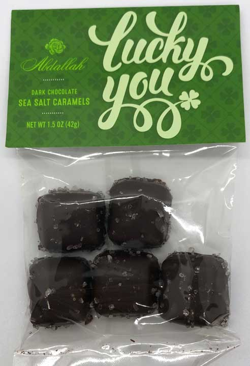 Lucky You Dark Chocolate Sea Salt Caramels, 1.5 oz.