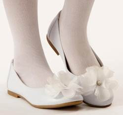 Lucy First Communion Shoe *WHILE SUPPLIES LAST* first communion shoe, white shoe, girls shoe, white ballet flat, white ballet shoe, special occasion shoe,