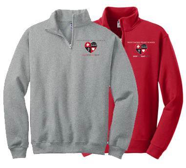 MSHS Quarter-Zip Sweatshirt, Embroidered most sacred heart school