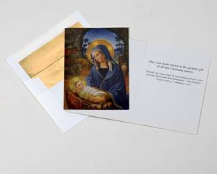 Madonna & Child Deluxe Boxed Christmas Cards, 15 Cards with 16 Gold Foil Envelopes