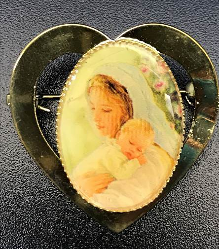 Madonna and Child Brooch
