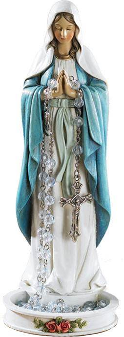 Madonna Rosary Holder rosary holder, madonna rosary holder, sacramental gift, statue rosary holder, first communion gift, reconciliation gift, confirmation gift, RCIA gift,