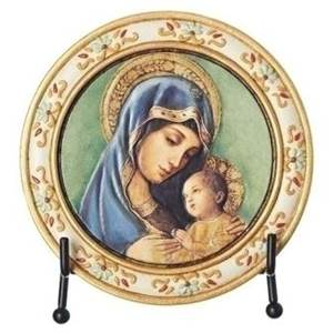 Madonna and Child Plaque with Easel