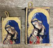 Madonna and Child Woven Rosary Pouch from Turkey