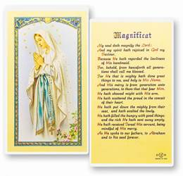 Magnificat Our Lady Of Lourdes Holy Card