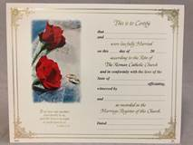 Marriage Certificate 100/PKG | CATHOLIC CLOSEOUT