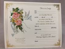 Marriage Certificates 100/PKG | CATHOLIC CLOSEOUT