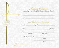 Marriage Certificates with Envelopes, Box of 50