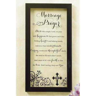 Marriage Prayer Glass Wall Plaque