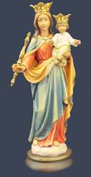 Mary Statue solid wood statue, hand carved statue, italian made state, maple wood statue, home decor, church decor, colored statue, mary statue, help of christians statue, 4092/18