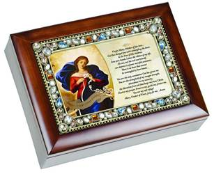 Mary Undoer of Knots Jeweled Music Box
