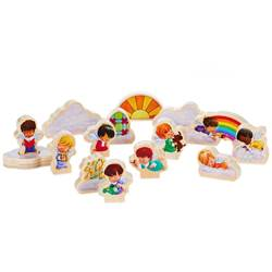 Marys Angels Wood Play Set