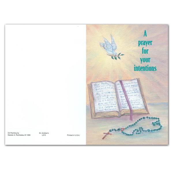 """A Prayer for Your Intentions"" Church Intention/Living Mass Car Oil Painting, Box of 50"