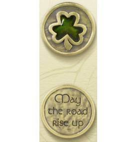 """May The Road"" Carded Pocket Token 448679,poket token, pewter token, irish token, irish gift, prayer token, ht15"