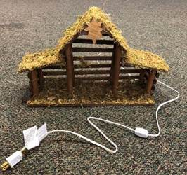 Medium Lighted Nativity Stable