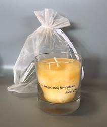 "Memorial 8 oz. Jar Candle ""In Me You May Have Peace"""