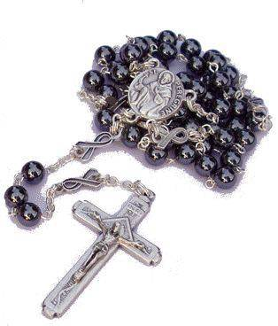St. Peregrine Men's Hematite Cancer Rosary