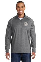 Mens Quarter Zip Pullover with Embroidered St. Ambrose Logo *Spiritwear*
