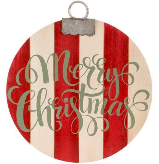 Merry Christmas Ornament Wall Art
