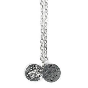 Message Charm Necklace Believe
