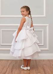 girls white first communion dress