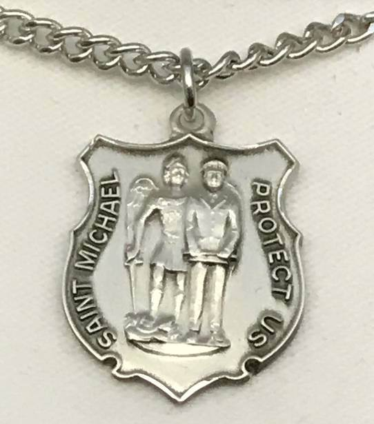 St. Michael and Police necklace