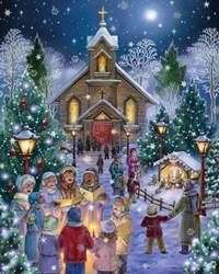 Midnight Mass Christmas 1000 Piece Puzzle