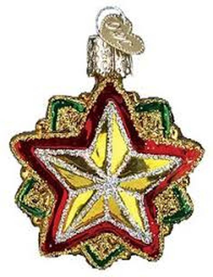 Mini Christmas Star Glass Ornament
