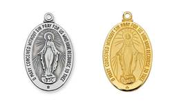 "Miraculous Medal on 20"" Chain"