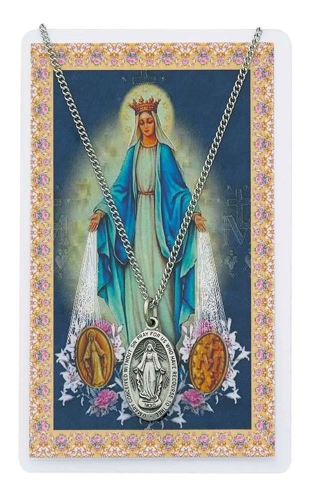 Miraculous Pendant & Holy Card