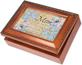 Mom Most Loving Silver Music Box Plays, Amazing Grace