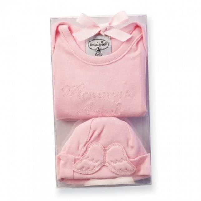 Mommys Angel Onesie/Hat, Size 0-3 Month