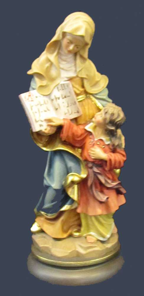 Mother Ann Statue solid wood statue, hand carved statue, italian made state, maple wood statue, home decor, church decor, colored statue, mother ann statue, st ann statue, 5032/20