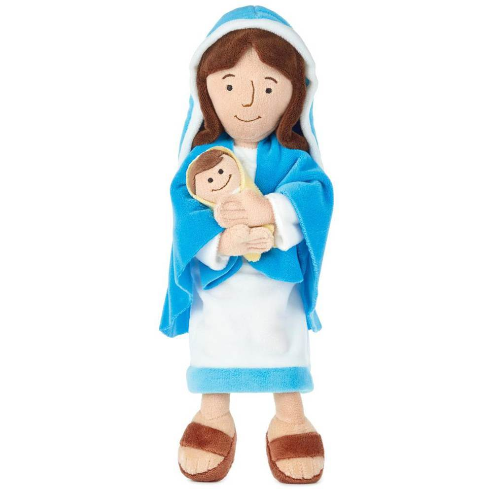 Mother Mary Plush Doll With Baby Jesus