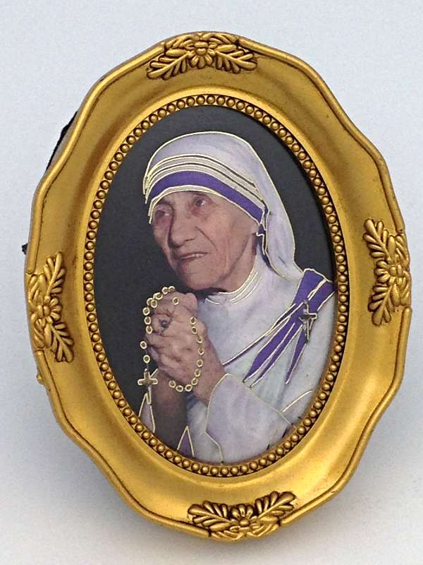 Mother Teresa Oval Photo in Frame