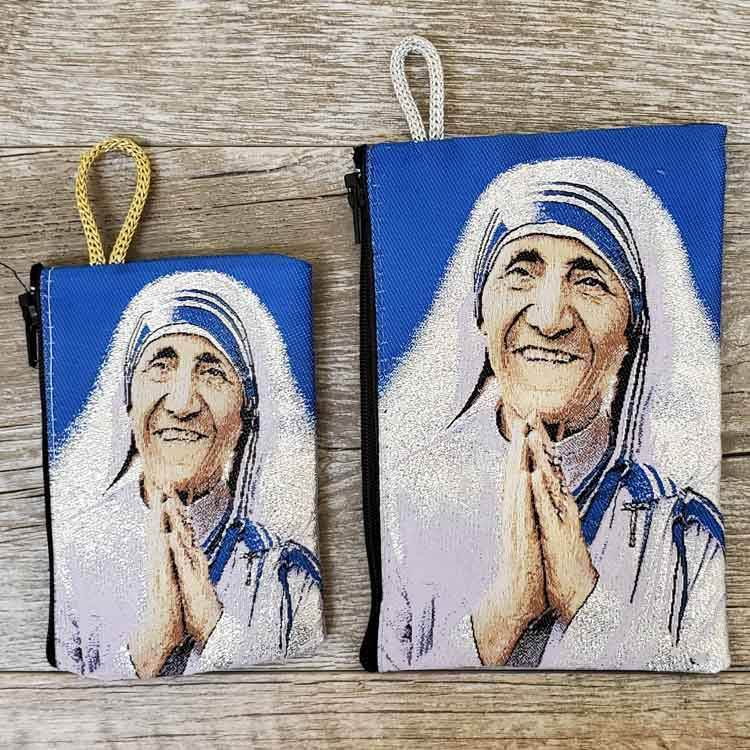 Mother Teresa Woven Rosary Pouch from Turkey