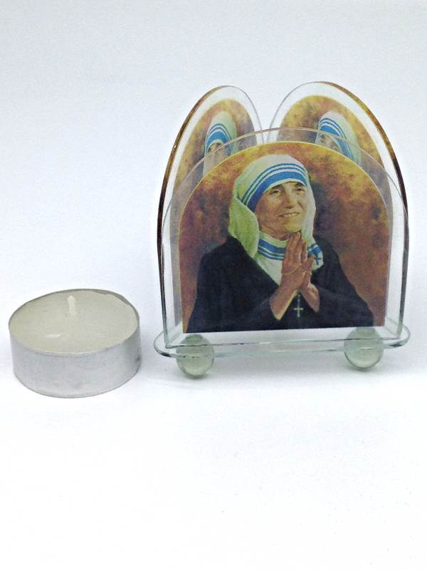 Mother Teresa Triangular Tea Light Holder