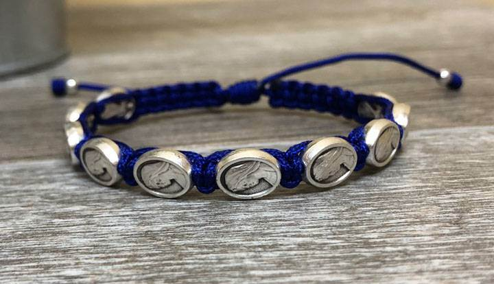 Mother's Blessing Bracelet with Blue Thread