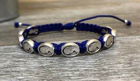 Mothers Blessing Bracelet with Blue Thread