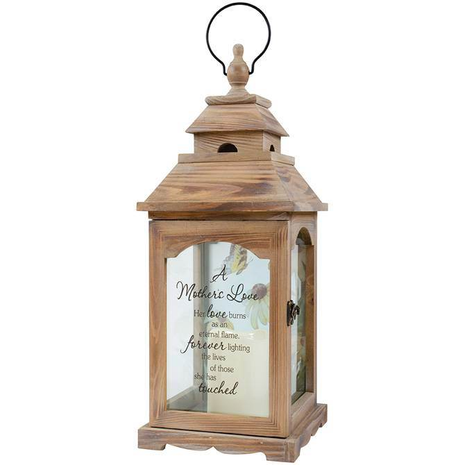 Mother's Love Wood LED Lantern