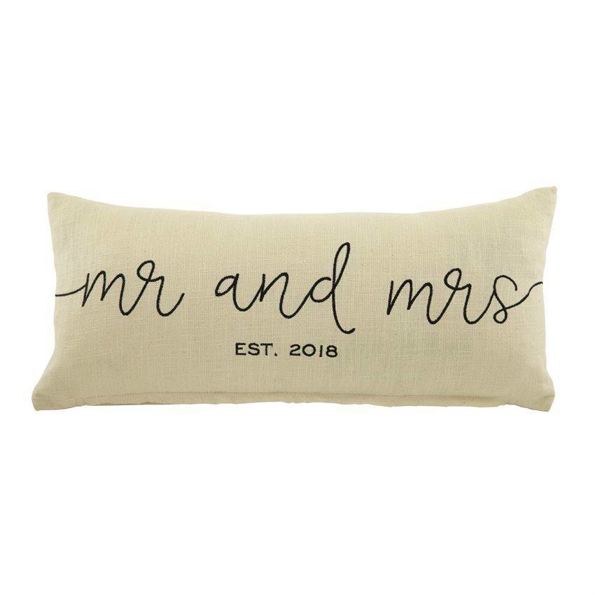 Mr. & Mrs. Est. 2018 Pillow