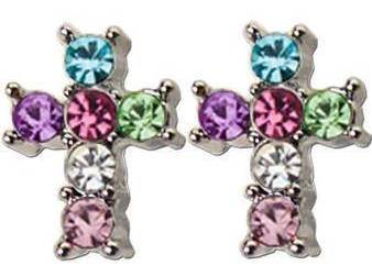 Multi-Color Post Earrings