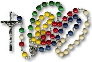 Multi Colored Wood Mission Rosary