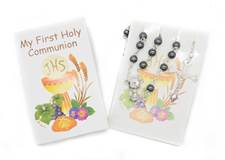 My First Communion Missal Set Hematite Rosary