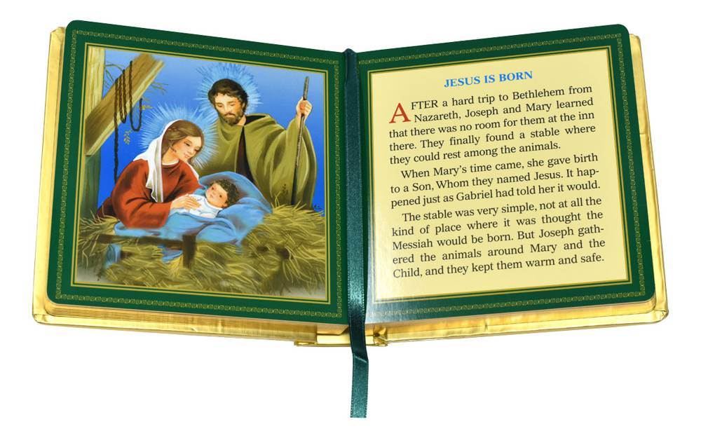 My Golden Christmas padded Book