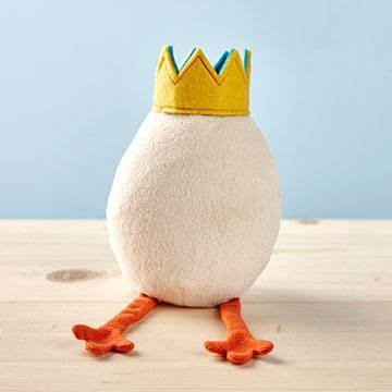 My Idea Plush Egg with Crown