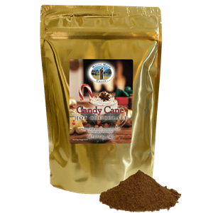 Mystic Monk Candy Cane Hot Chocolate, 12oz. Bag