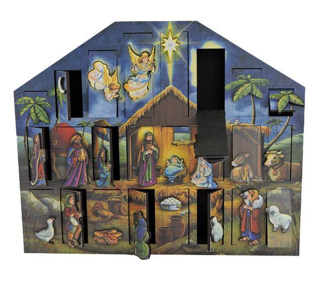 Handcrafted Nativity Advent Calendar