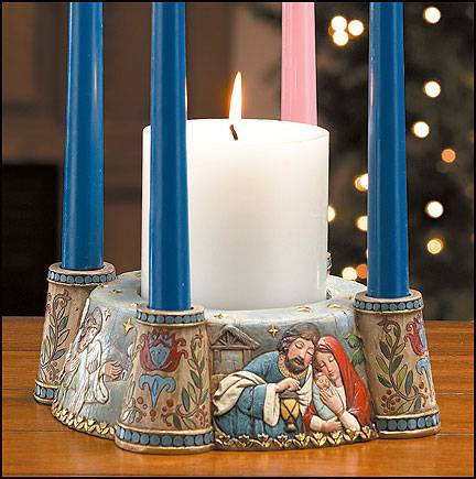 nativity advent wreath. Black Bedroom Furniture Sets. Home Design Ideas