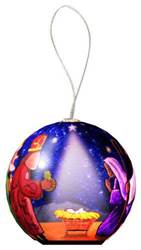 Nativity Lighted Ball Ornament